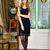 bela · mulher · luxuoso · interior · longo · vestido · de · noite · estúdio - foto stock © pilgrimego