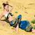 mujer · ropa · de · playa · bastante · morena · blanco - foto stock © pilgrimego