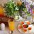 Континентальный · завтрак · кофе · апельсиновый · сок · круассаны · пить · пластина - Сток-фото © pilgrimego