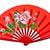 vermelho · chinês · ventilador · isolado · branco - foto stock © pinkblue