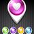 3D · kaart · hart · icon · liefde · straat - stockfoto © pinnacleanimates