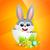 Paskalya · şeytani · easter · bunny · boyalı · yumurta · gökyüzü - stok fotoğraf © pinnacleanimates