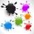 colorful paint splashes set 2 stock photo © pinnacleanimates
