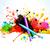 kleurrijk · spatten · stijlvol · festival · ontwerp · gelukkig - stockfoto © pinnacleanimates