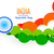 creative indian flag design made with circles in wave style foto stock © pinnacleanimates