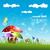 champignon · dorp · illustratie · bergen · dieren · kleurrijk - stockfoto © pinnacleanimates