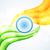 indiano · ilustração · cidadão · bandeira · tricolor - foto stock © pinnacleanimates