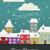 Рождества · Vintage · веселый · красочный · стиль · дизайна - Сток-фото © Pinnacleanimates