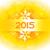 new year design in yellow theme with snowflakes stock photo © pinnacleanimates