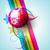 Disco · Ball · четыре · дискотеку · зеркало · наушники - Сток-фото © pinnacleanimates
