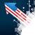 американский · флаг · стрелка · дизайна · вектора · вечеринка · синий - Сток-фото © Pinnacleanimates