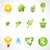 establecer · ecológico · iconos · eps - foto stock © pinnacleanimates