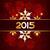 2015 happy new year design in golden style placed on red backgro stock photo © pinnacleanimates