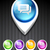 red · social · diseno · 3D · botón · oficina - foto stock © pinnacleanimates