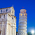 pisa piazza del duomo with the basilica leaning tower at dawn stock photo © pixachi