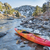 kajak · wal · kleurrijk · rivier · boom · reflectie - stockfoto © pixelsaway