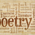 poetry word cloud on papyrus paper stock photo © pixelsaway
