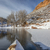 winter canoe paddling in colorado stock photo © pixelsaway