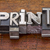 print word in metal type stock photo © pixelsaway