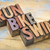 run bike swim in wood type stock photo © pixelsaway