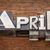 april word in metal type stock photo © pixelsaway