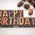 gelukkige · verjaardag · type · antieke · hout · afdrukken - stockfoto © pixelsaway