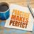 practice makes perfect on napkin stock photo © pixelsaway
