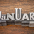 january month in metal type stock photo © pixelsaway