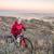 starszy · rowerzysta · człowiek · drogowego · rowerów · patrząc - zdjęcia stock © pixelsaway