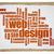 web design word cloud on art canvas stock photo © pixelsaway