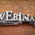 webinar word in metal type stock photo © pixelsaway