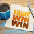 think win win concept on napkin stock photo © pixelsaway