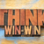 think win win word abstract in wood type stock photo © pixelsaway