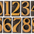 set of wood type numbers isolated stock photo © pixelsaway