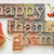 happy thanksgiving in wood type stock photo © pixelsaway