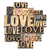love word in wood type stock photo © pixelsaway