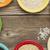 コメ · セラミック · ボウル · 白 · 木製のテーブル - ストックフォト © pixelsaway