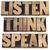 listen think speak advice stock photo © pixelsaway