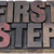 first step in wood type stock photo © pixelsaway