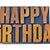happy birthday in letterpress wood type stock photo © pixelsaway