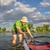 male sup paddler with paddleboard stock photo © pixelsaway