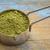 cuchara · té · verde · polvo · metal · grunge - foto stock © pixelsaway