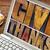 tipografia · madeira · tipo · laptop · tela - foto stock © pixelsaway