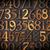 numara · altı · tebeşir · yeşil · kara · tahta - stok fotoğraf © pixelsaway