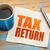 tax return word abstract on napkin stock photo © pixelsaway