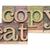 copycat word in wood type stock photo © pixelsaway
