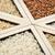 pirinç · tahıl · zeytin · ahşap · kaşık - stok fotoğraf © pixelsaway