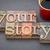 verhaal · woord · type · geïsoleerd · vintage - stockfoto © pixelsaway