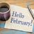 hello february on napkin stock photo © pixelsaway