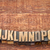alphabet abstract in letterpress wood type blocks stock photo © pixelsaway